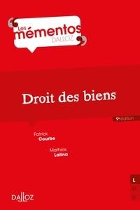 Patrick Courbe et Mathias Latina - Droit civil. Les biens - 9e éd..