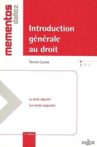 Introduction générale au droit 11e édition