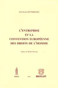 Patrick de Fontbressin - L'entreprise et la convention européenne des droits de l'homme.