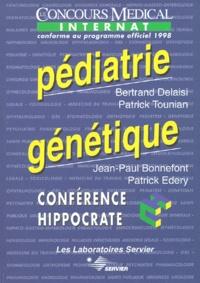 Patrick Edery et Bertrand Delaisi - Pédiatrie génétique - Edition conforme au programme officiel 1998 de l'internat.