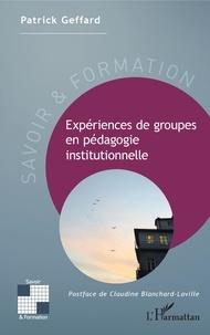 Deedr.fr Expériences de groupes en pédagogie institutionnelle Image