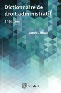 Patrick Golfaux - Dictionnaire élémentaire de droit administratif.