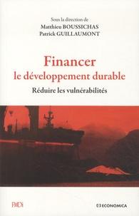 Financer le développement durable- Réduire les vulnérabilités - Patrick Guillaumont pdf epub