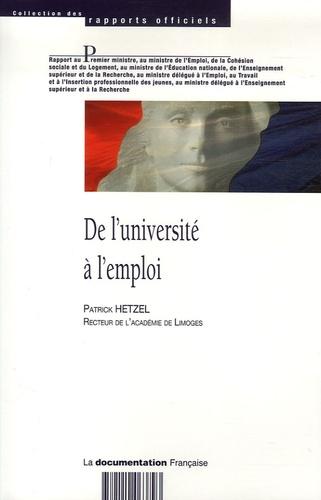 Patrick Hetzel - De l'université à l'emploi.