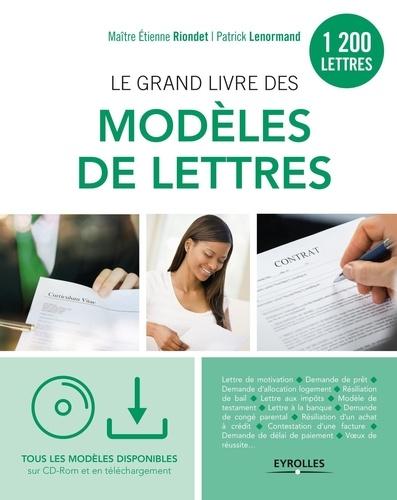 Le Grand Livre Des Modeles De Lettres Patrick Lenormand Etienne