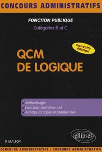 Patrick Malfoy - QCM de logique - Catégories B et C.