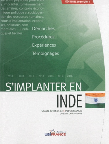 Patrick Manon et Payal Sharma - S'implanter en Inde.