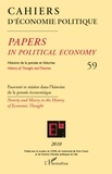 Patrick Mardellat - Cahiers d'économie politique N° 59/2010 : Pauvreté et misère dans l'histoire de la pensée économique.