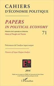 Patrick Mardellat - Cahiers d'économie politique N° 71/2016 : Précurseurs de l'analyse input-output.