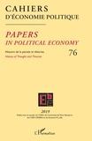 Patrick Mardellat - Cahiers d'économie politique N° 76/2019 : Histoire de la pensée et théories.