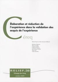 Patrick Mayen et Alain Savoyant - Elaboration et réduction de l'expérience dans la validation des acquis de l'expérience.