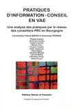 Patrick Mayen et Dominique Perrier - Pratiques d'information-conseil en VAE - Une analyse des pratiques par le réseau des conseillers PCR en Bourgogne.