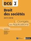 Patrick Mercati - Droit des sociétés DCG 2 - Corrigés des applications.