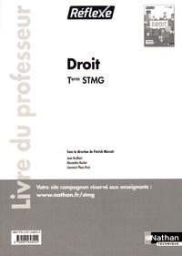 Patrick Mercati - Droit Tle STMG Réflexe - Livre du professeur.