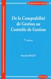 Patrick Piget - De la Comptabilité de Gestion au Contrôle de Gestion.