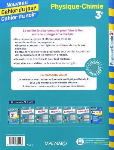 Cahier du jour/Cahier du soir Physique-Chimie 3e + mémento  Edition 2019