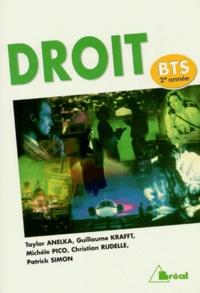 Patrick Simon et Christian Rudelle - Droit, BTS 2e année.