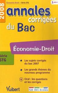 Patrick Simon - Economie-Droit série STG - Annales corrigées du Bac.