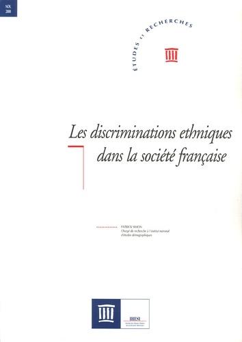 Patrick Simon - Les discriminations ethniques dans la société française.
