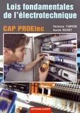 Patrick Tirfoin et Alain Richet - Lois fondamentales de l'électrotechnique CAP PROElec.
