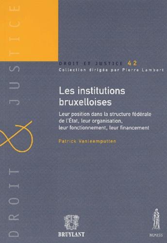 Patrick Vanleemputten et Charles Picqué - Les institutions bruxelloises - Leur position dans la structure fédérale de l'Etat, leur organisation, leur fonctionnement et leur financement.