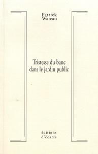 Patrick Wateau - Tristesse du banc dans le jardin public.