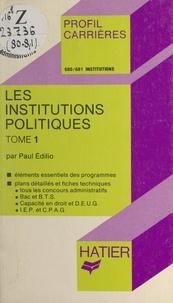 Paul Édilio et Georges Décote - Les institutions politiques (1).
