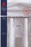 Paul Amselek - Etudes de droit public.