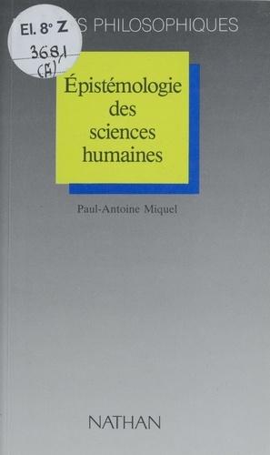 Épistémologie des sciences humaines