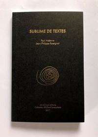 Paul Ardenne - Sublime de Textes.