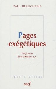 Paul Beauchamp - Pages exégétiques.