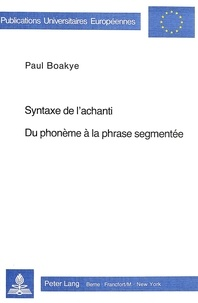Deedr.fr Syntaxe de l'achanti- Du phonème à la phrase segmentée - Du phonème à la phrase segmentée Image