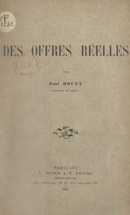 Paul Bouet - Des offres réelles.