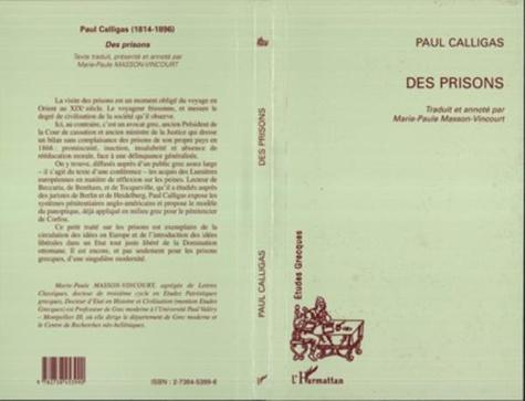 Paul Calligas - Des prisons.