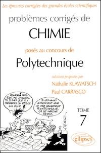 Rhonealpesinfo.fr Problèmes corrigés de chimie posés au concours de Polytechnique - Tome 7 Image