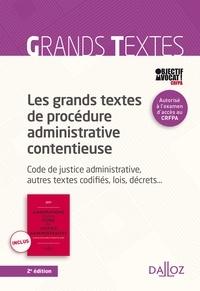 Galabria.be Les grands textes de procédure administrative contentieuse - Code de justice administrative Image
