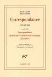 Paul Celan et René Char - Correspondance 1954-1968 - Avec des lettres de Gisèle Celan-Lestrange, Jean Delay, Marie-Madeleine Delay et Pierre Deniker, Suivie de la Correspondance René Char - Gisèle Celan-Lestrange (1969-1977).