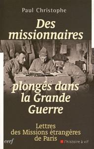 Histoiresdenlire.be Des missionnaires plongés dans la Grande Guerre 1914-1918 - Lettres des Missions étrangères de Paris Image