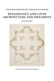 Paul Davies et David Hemsoll - Antiquities and Architecture Part 10, Renaissance and Later Architecture and Ornament - Volume 1, Drawings from the Architectura Civile album and other architectural drawings ; Volume 2, Decorative schemes and military subjects.