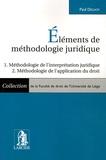 Paul Delnoy - Elements de méthodologie juridique - Méthodologie de l'interprétation juridique, Méthodologie de l'application du droit.