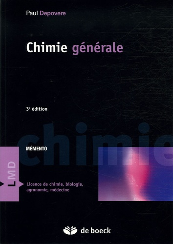 Paul Depovere - Chimie générale.