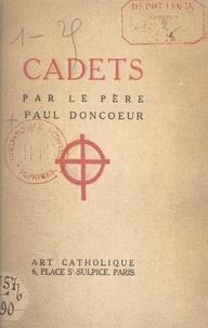 Paul Doncœur - Cadets.