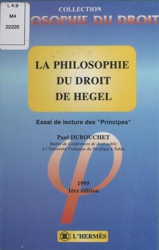 LA PHILOSOPHIE DU DROIT DE HEGEL