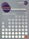 Paul Emmerson - Essential Business Vocabulary Builder - Pre-intermediate to Intermediate. 1 CD audio
