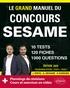 Paul Evensen et Joachim Pinto - Le grand manuel du concours SESAME - 10 tests, 120 fiches, 1000 questions.