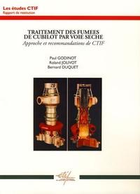 Paul Godinot et Roland Jolivot - Traitement des fumées de cubilot par voie sèche.