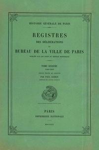 Paul Guérin - Registre des délibérations du bureau de la Ville de Paris - Tome 10, 1590-1594.