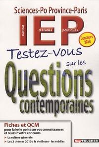 Histoiresdenlire.be Testez-vous sur les Questions contemporaines - IEP Sciences-Po Province-Paris Image