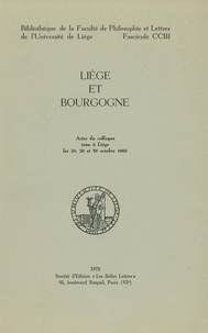 Paul Harsin - Liège et Bourgogne.