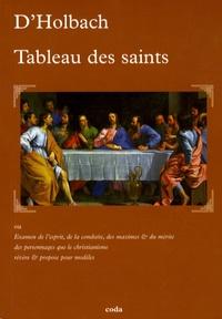 Paul-Henri Dietrich Holbach - Tableau des saints.